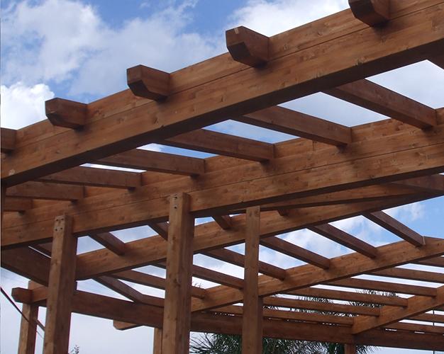 Copertura In Legno Bianco : Strutture e coperture in legno lamellare secoti di francesco pino